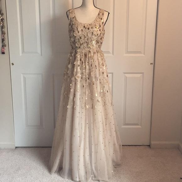 Aidan Mattox Dresses | Rosette Beaded Gown | Poshmark